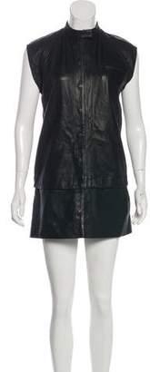 OAK Leather Mini Dress