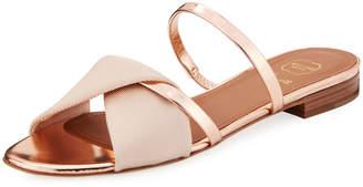 Malone Souliers Teresa Luwolt Metallic Flat Sandals