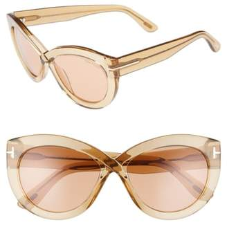 Tom Ford Diane 56mm Butterfly Sunglasses