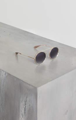 BCBGMAXAZRIA Round Metal Aviator Sunglasses