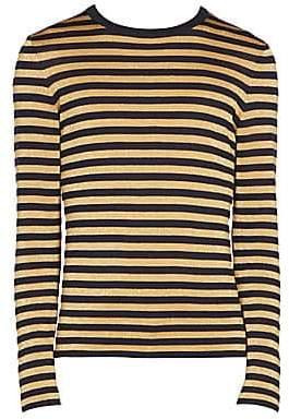 Saint Laurent Men's Metallic Striped Pullover