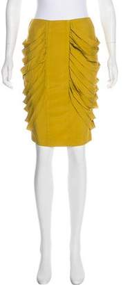 Loeffler Randall Draped Pencil Skirt