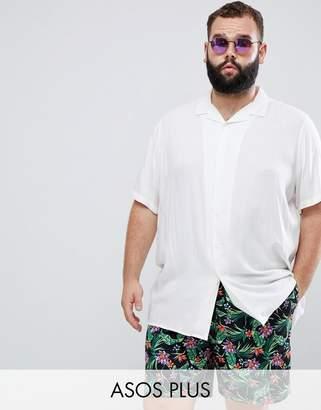 Asos Design DESIGN plus swim shorts in floral print mid length