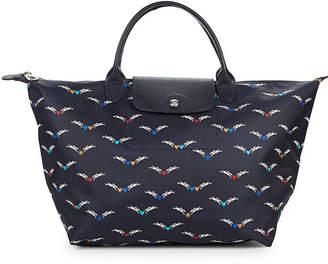 Longchamp Le Pliage Chevaux Ailes Nylon Top Handle Tote