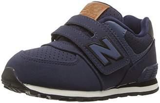 New Balance Boys' KV574 Hook and Loop Sneaker