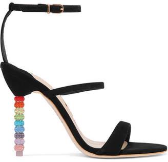 Sophia Webster Rosalind Crystal-embellished Suede Sandals - Black