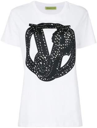 Versace embellished V T-shirt