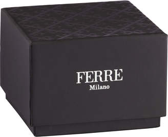 Ferré Milano Men's 45mm Stainless Steel Diver Watch with Rubber Strap, Navy/Black