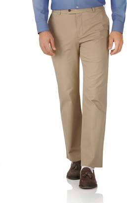 Charles Tyrwhitt Tan Classic Fit Stretch Cotton Chino Pants Size W32 L34