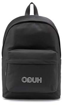 Logo-strap backpack in nylon gabardine