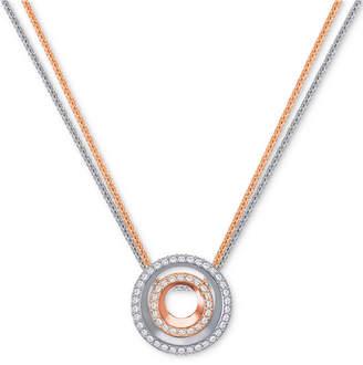 "Swarovski Two-Tone 2-Pc. Set Crystal Circle Interlocking 16-1/2"" Pendant Necklaces"