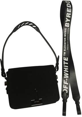 Off-White Off White Binder Black Leather Handbag