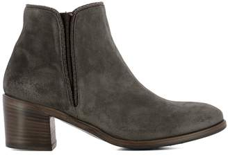 Alberto Fasciani Grey Suede Ankle Boots