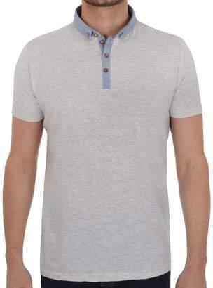 Brave Soul Mens Chimera Polo Shirt - Grey - L