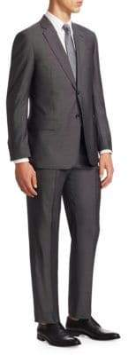 Giorgio Armani Wool & Silk Pindot G Line Suit