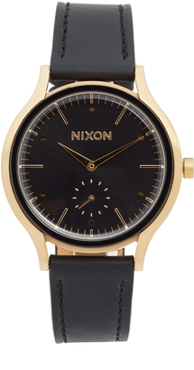 Nixon The Sala Leather Watch $200 thestylecure.com