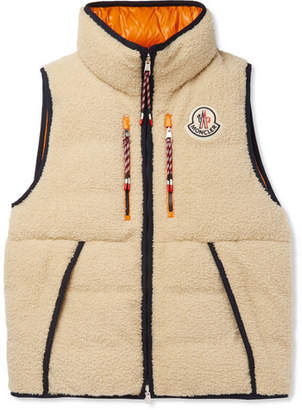 Moncler Genius 2 1952 Auron Reversible Fleece And Quilted Shell Down Gilet