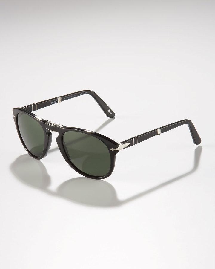 Persol Polarized Folding Sunglasses, Black