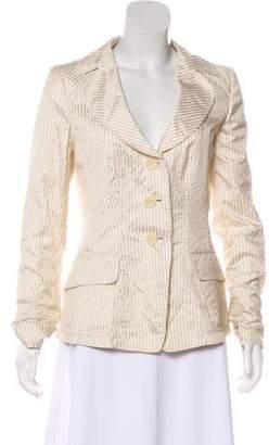 Armani Collezioni Striped Silk Blazer