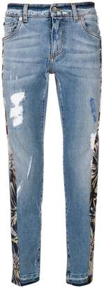 Dolce & Gabbana floral panel jeans