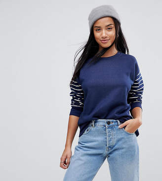 Asos Sweatshirt in Cutabout Stripe