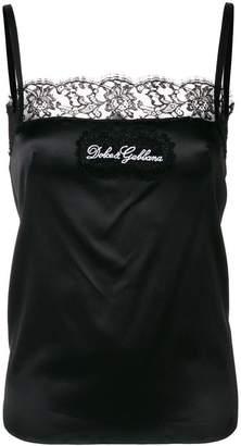 Dolce & Gabbana lace trim vest