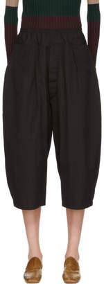 Marni Black Cropped Cotton Poplin Trousers
