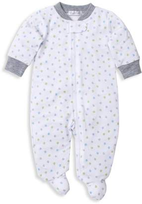 Kissy Kissy Baby's Dot Print Pima Cotton Footie