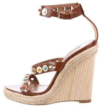 Aquazzura Embellished Espadrille Wedges