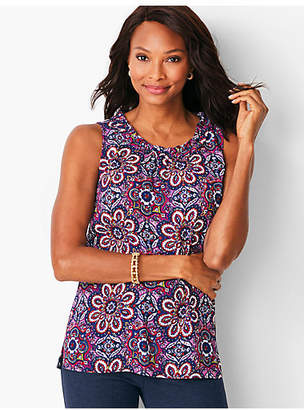 Talbots Ruched Shell - Paisley