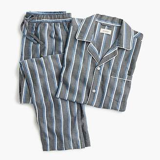 J.Crew Pajama set in blue stripe