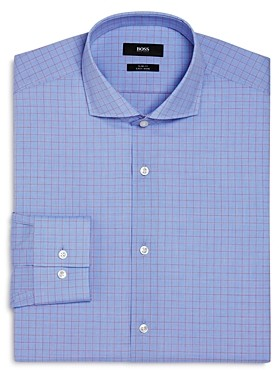 Overchecked Slim Fit Dress Shirt