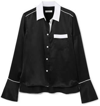 Equipment Huntley Silk-satin Shirt - Black