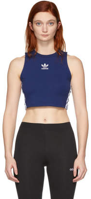 adidas Blue Cropped Tank Top