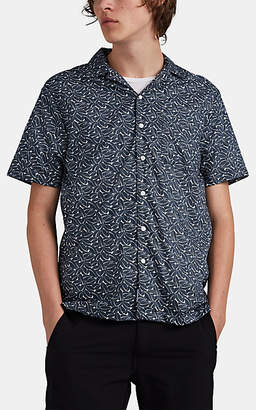 Onia Men's Vacation Leaf-Print Cotton Camp-Collar Shirt