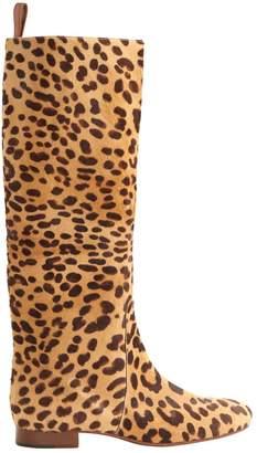 Celine Pony-style Calfskin Boots