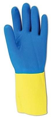 Equipment Magid 738 Comfort Flex Flock-Lined Two Tone Neoprene/Yellow Latex Gloves