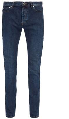 Valentino Mid Rise Skinny Fit Jeans - Mens - Navy