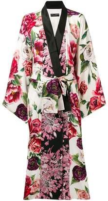 Dolce & Gabbana floral-print robe