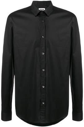 Les Hommes Urban zipper-teeth collar shirt