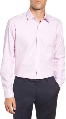 Nordstrom Tech-Smart Trim Fit Stretch Check Dress Shirt