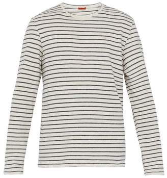 3c477590 Free Delivery! FREEDEL at MATCHESFASHION.COM · Barena Venezia - Striped  Cotton Blend Long Sleeve T Shirt - Mens - White Navy