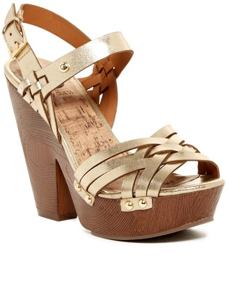G by GUESS Silmaa Platform Sandal $69 thestylecure.com
