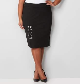 Avenue Grommet Lace Up Skirt
