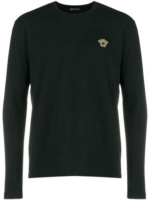 Versace logo fitted sweater