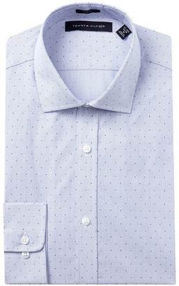 Tommy Hilfiger Dot Check Slim Fit Dress Shirt $55 thestylecure.com