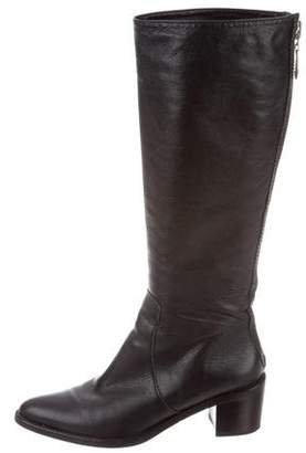 Diane von Furstenberg Leather Pointed-Toe Boots