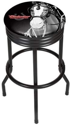 Trademark Gameroom Budweiser Black Ribbed Bar Stool