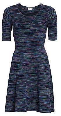 Milly Women's Spacedye Fit-&-Flare Dress