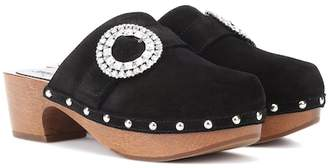 Jimmy Choo Doralie 55 embellished suede clogs
